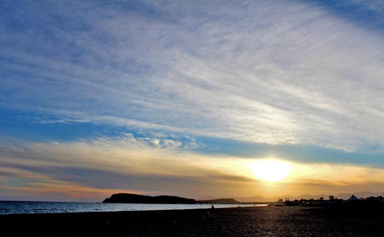 Cieli di Novembre al tramonto